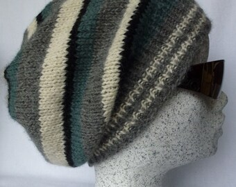 Multi Colored Slouch Beanie