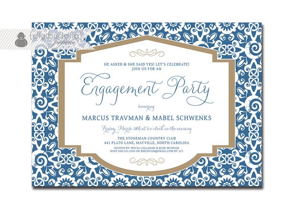 Engagement Party Invitations Engagement Party Invitation