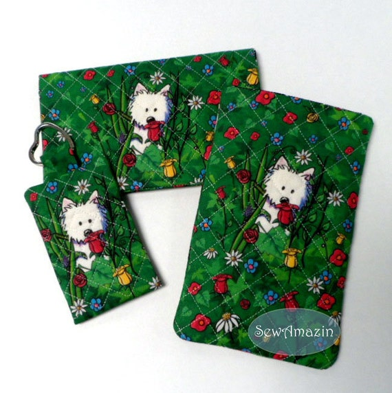 Garden Westies Accessories Sunglass Phone Case, Checkbook Cover, Pocket Key Chain