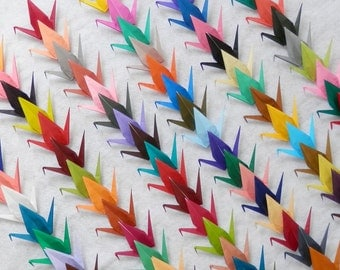 100 Large Origami Cranes In 100 Different Rainbow Colors Origami Paper Cranes