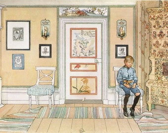FINE ART Print by Carl LARSSON famous Swedish artist of In The Corner Interior