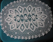 Oval Centerpiece / Runner / Doily / Gift / Tablecloth/ Antique White