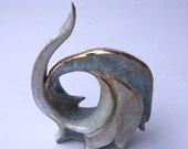 Circle bird, ceramic bird, home decor
