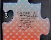 Good Friends - Recycled Puzzle Piece Magnet