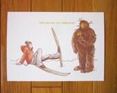 Valentine's Day Card - Boy Meets BigFoot