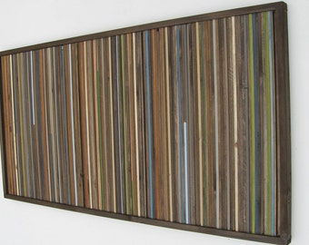 Reclaimed Wood Wall Art  Rustic Sculpture Painting