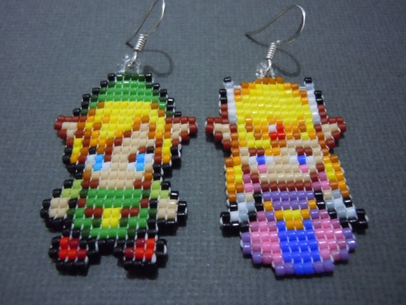 link and earrings seed bead jewelry minish