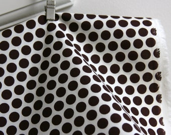 Organic Dottie in Mahogany - Mod Basics Collection from Birch Fabrics - ONE HALF YARD