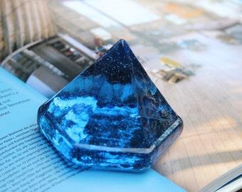 Beach Decor, Glass Deck Prism, Ocean Blue, by SEASTYLE