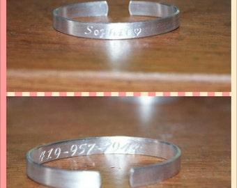 Child Size Matte Finish or Emergency Bracelet