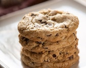 cookie-JUMBO chocolate chip cookie, 1 dozen, HUGE, chewy, moist and loaded with chocolate