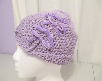 Women, child, teen handmade crocheted cloche, hat, beanie.