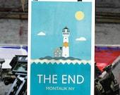 Montauk - Lighthouse The End Nautical Print - Art Poster