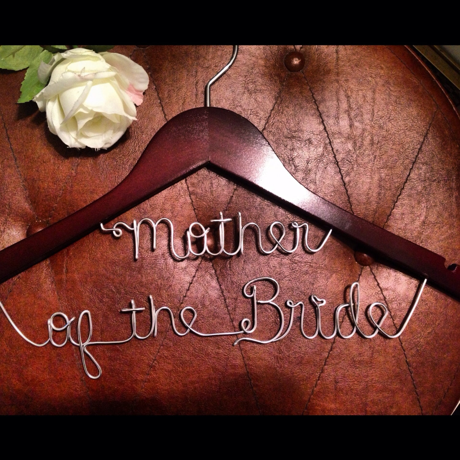 set of 6 Custom wedding dress hangers