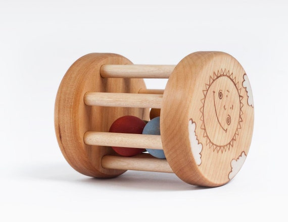 Wooden Rattle Box eco-friendly baby toy
