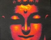 Printed Patch - Large Back BUDDHA FACE - Vest, Bag, Backpack, Jacket -Sew On p540