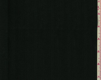 "60"" Black Cotton Pique Fabric-15 Yards Wholesale By The Bolt"