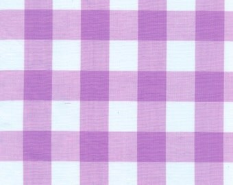 """60"""" Lilac Gingham Check Fabric (1"""" check) 20 Yards By The Bolt"""