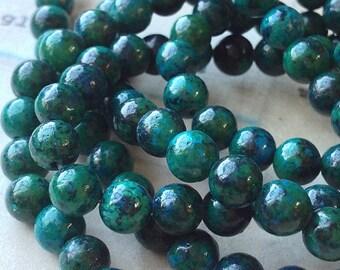 6 mm Pastel Round Green LAPIS LAZULI Green Lapis Gemstone (.tmh)