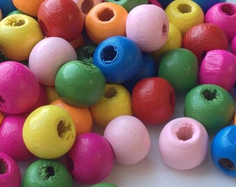 6 mm Wooden Beads of Assorted Color (.mt)
