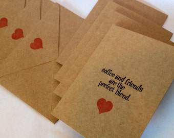 Coffee & Friends are the Perfect Blend - Set of 4 cards