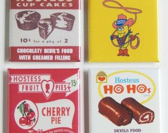 Snack Cakes Fridge Magnet Set