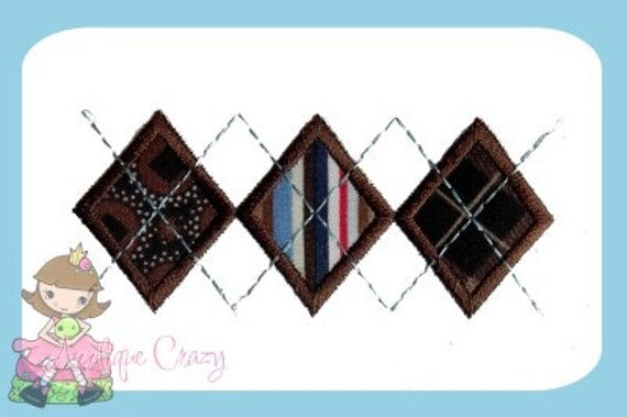 Argyle pattern Applique design