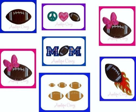 Football Package applique designs