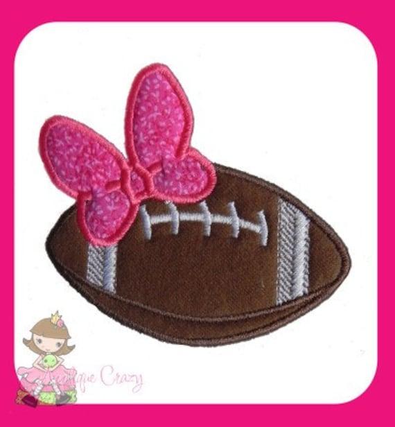 Girly Football applique design