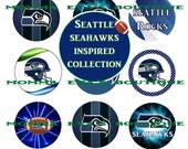 Momma Eva's -- INSTANT DOWNLOAD /  Seattle Seahawks Fan Inspired Collection  / 4 x 6  / 1 in Circles /  Bottle Caps  Hair Bows