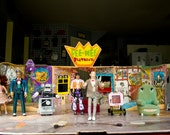 Pee Wee's Playhouse  -With 7 characters-  Conky, Curtis, King, Yvonne, Chairry, Screen, Herman