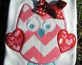 Valentine Chevron Owl