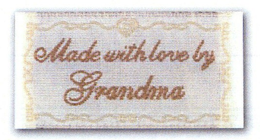 Sewing Labels Made With Love By Grandma Non Customizable Label