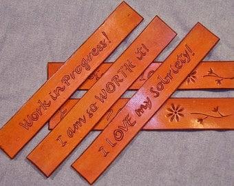Handmade Leather Bookmarks