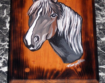 Hand painted step stool- horse