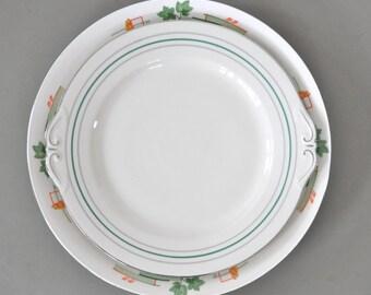 Big white serving plate | Art Nouveau style | Serving dish