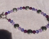 Shade of Purple Swarovski Crystal Celtic Bracelet