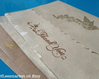 Antique Stained Steampunk Bridal Thank You Cards