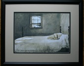 Master Bedroom by Andrew Wyeth  Double Matte 18 x 22 Black Frame