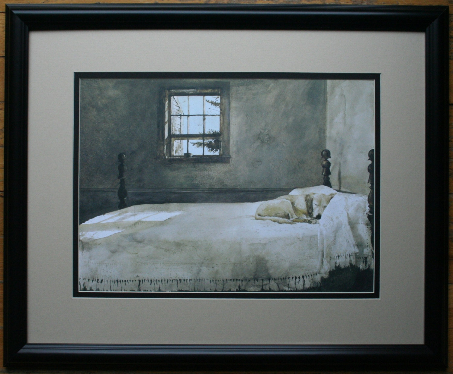 Master Bedroom By Andrew Wyeth Double Matte 18 By Stoneswoodmill
