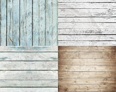 FOUR PACK / OF 2' x 2' Mix and Match Wood Floordrops / Vinyl Photography Backdrops for Product Photos