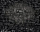NEW ITEM 4ft x 4ft Vinyl Photography Backdrop / Science Chalkboard / Formula Scientist