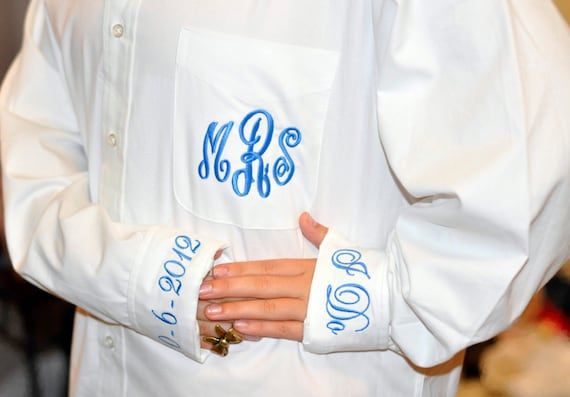 Monogram Bride Shirt Button Down for Wedding Day Over Sized Shirt for Bathing Suit Cover Up Personalized