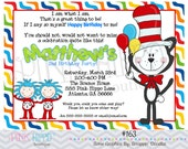 Colorful Cat:163 - PRINTABLE INVITATION
