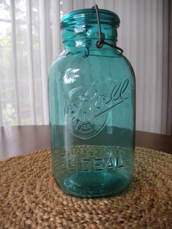 Vintage Ball Ideal Glass 1/2 Gallon Jar