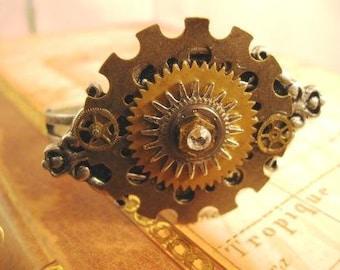 steampunk bracelet Old Gears