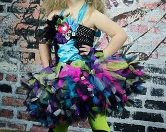 Rock Star Tutu Dress~ Petti Tutu Dress~ Emersyn Rocks~ Baby Toddler Kids~ Rock Star Party~ Photo Prop~ Pageant Costume~Birthday Dress~