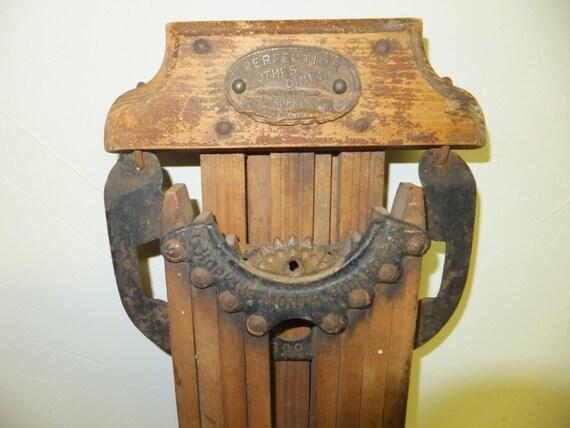 Antique L Hopkins Perfection Wood Clothes Dryer Hanger Circa