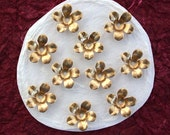 Brass Flower Stampings, Metal Stamped Flowers, Vintage Style Metal Flowers  STA-050