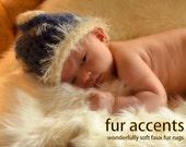 Shaggy Soft Rectangle Faux Fur Sheepskin / Plush Off White Shag Rug Great For Nursery, Bedroom or Den